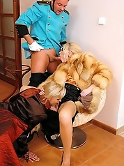 Bellhop Bangs Two Eurobabes in Silk,...